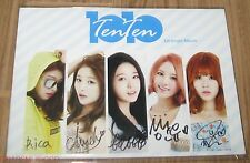 TENTEN 10x10 AMOMIA REAL SIGNED AUTOGRAPHED K-POP DIGITAL PROMO SINGLE CD