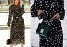 Zara Black Polka Dot Print Flowing Dress Size S, M