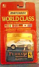 Matchbox World Class Series Car #24 Ferrari Testarossa Mint in Orig Package New