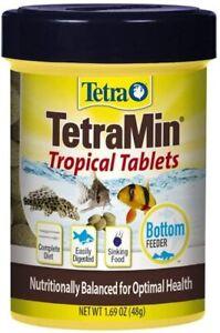 Tetra Tropical Tablets Bottom Feeders Tetramin 1.69 Fish Food Tabs Complete Diet
