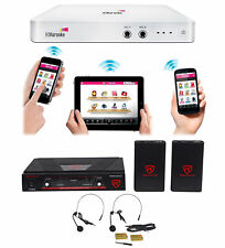 HDKaraoke HDK Box 2.0 Wi-Fi Karaoke Machine System + (2) Wireless Headset Mics