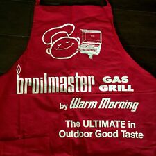 Broilmaster Gas Grill Apron Vtg Mid Century Red Warm Morning Advertising