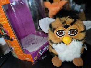 Vtg 1998 Tiger Electronics Furby Tiger Striped Brown/Black 70-800 Works No Sound