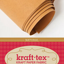 "KRAFT-TEX ROLL, NATURAL, 19"" X 54"" Washable, Sewable, Leather-Like, Heavy Paper"