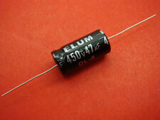 50pc ELUM 450V 47UF Axial Electrolytic Capacitor YK