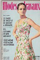 JULY 1970 MODES TRAVAUX vintage fashion magazine ( FRENCH )