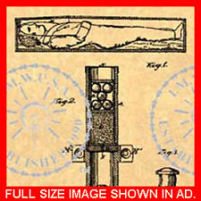 COFFIN Torpedo EXPLOSIVE Casket US Patent #413