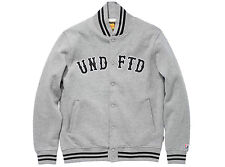 Undefeated Fleece Varsity Jacket Large Grey SB Dunk Supreme Comme des garcon