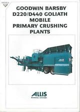 ALLIS MINERAL SYSTEMS D220 D440 GOLIATH MOBILE CRUSHING PLANT BROCHURE - FF2