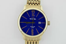 NEW TW Steel Blue Dial Rose Gold-tone Stainless Steel Mens Watch, TW1309 (NIB)