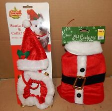 Dog Costumes Christmas You Choose Type Sm & Med Size Santa & Elf Style 189A