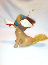 Vintage Leather stuffed Dog Carnival prize Christmas decoration