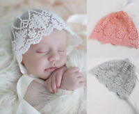 Kids Baby Girl Infant Toddler Lace Hat Cap Beanie Photography Props Bonnet Gift