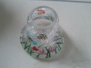 Glass Tea Light Cover Flowers Design Topper (Shade)