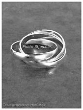 Alianza anillo 3 Anillas Plata Maciza 925/1000 T66 Joyas Tamaños a elegir