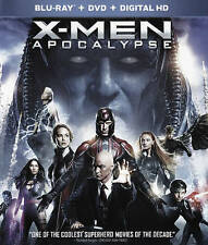 X-Men: Apocalypse (Blu-ray/DVD, 2016, 2-Disc Set) NEW - FREE SHIPPING
