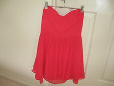 Ladies Dress Design Bettina Liano  Size 12 Colour  Coral   Polyester