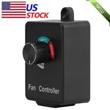 Variable Active Air Duct Fan Speed Controller Hydroponics Inline Exhaust 120V 3A