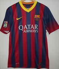 NIKE FC BARCELONA MATCH HOME Jersey Shirt 2013 2014 QATAR M ORIGINAL - NEW