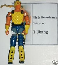 1982 Gi Joe T'JBANG (v1) NINJA SWORDSMAN needs repair Broken 'O' Ring