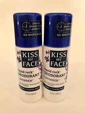 Lot of 2 Kiss My Face Liquid Rock Roll On Deodorant Lavender Scent 3 oz