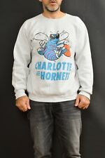 Charlotte Hornets 80s Fruit of the Loom USA melange Grey Sweater Top Shirt XL