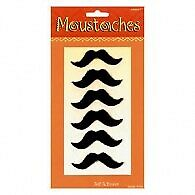 fiesta moustaches 6pack PARTY FAVOURS SUPPLIES