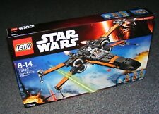LEGO Star Wars Poe's X Wing Fighter Force Awakens Minifigure Set Resistance