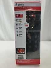 BELKIN HOME THEATER 8 OUTLET SURGE PROTECTOR 8ft CORD BLACK