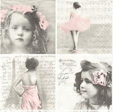 Lot de 2 Serviettes en papier Vignettes Ballet Paris Decoupage Collage Sagen