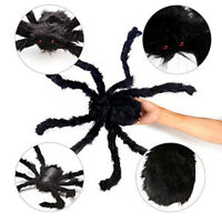 Halloween Plush Spider Tricky Fake Black Spider Props for Party Decoration HOT