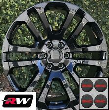"22 inch GMC Yukon CK158 OEM Specs Wheels Gloss Black Rims 22 x9"" 6x139.7"