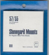 Showgard Stamp Mounts: 57/55 Regular Issue US Blocks Black 25 Pack Free Post