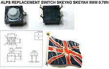 Lot of 10 Tact Switch Alps SKEY Compatible SKEYAG SKEYAH 010 5mm Tactile RM1x