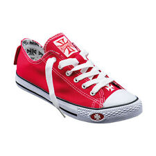 SCARPE UOMO DONNA WEST COAST CHOPPERS WARRIOR LOW-TOPS ROSSE  TG 41