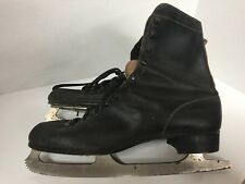 Vintage Leather & Steel Ice Skates Canada White Maybe Size 11? Retro Pair 1