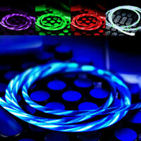 LED flowing USB-Lightning Charger Charging Cable Cord For IOS Android & Type-C