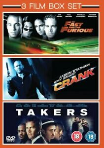 3 Film Box Set: Takers / Crank / The Fast and The Furious [DVD][Region 2]
