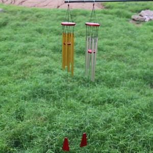 Windchime 6 Tubes Design Wind Chimes Home Relaxing Metal Hanging Chapel Bells AA
