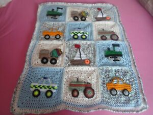 Beautiful crochet pram/car seat blanket