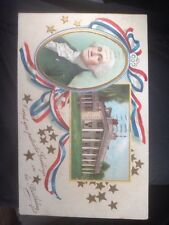 Antique Postcard, 4th Of July Patriotic George Washington's Birthday, c1909 Post