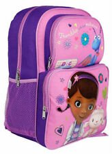 "Backpack 16"" Doc McStuffins Pink Cargo Multi Compartment School Bag New"