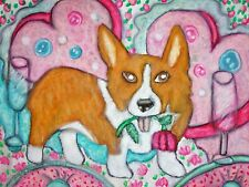 Pembroke Welsh Corgi Valentines Day Pop Art Print 8 x 10 Dog Corgi Collectible