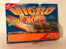 Vintage Micro Hot Wheels Dark Rider Series 4 Pieces Track Diecast Cars 1996 MOC