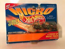 Vintage Micro Hot Wheels Dark Rider Series 4 Pieces Track Diecast Cars 1996 MOC
