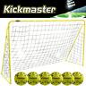 KICKMASTER ULTIMATE 6FT PREMIER STEEL FRAME BACK GARDEN FOOTBALL GOAL