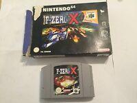 UK/EURO PAL NINTENDO 64 N64 GAME F-ZERO X CARTRIDGE +BOX PAL