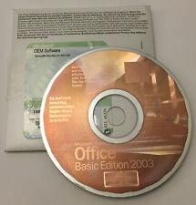 Microsoft Office 2003 Basic Edition (Lizenz + Medien) - Vollversion