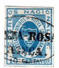COLOMBIA - CLASSIC - 10c STAMP - SANTA ROSA FRANCA CANCEL - Sc 16 - $ 175 - 1861