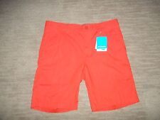 "COLUMBIA Cotton Blend 10"" Inseam WASHED OUT Orange SHORTS Mens Size 36  NEW"
